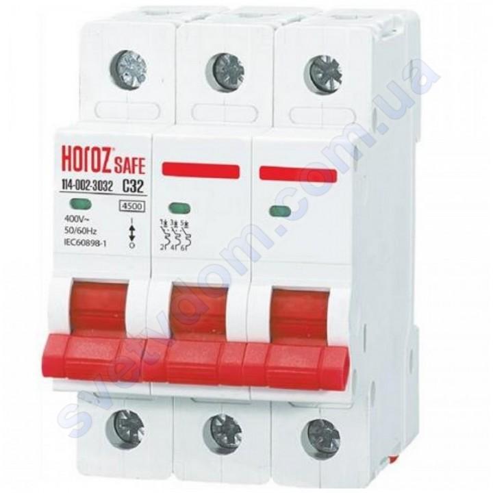 Автоматичний Вимикач Horoz Electric SAFE C32 3Р 4,5 кА 114-002-3032