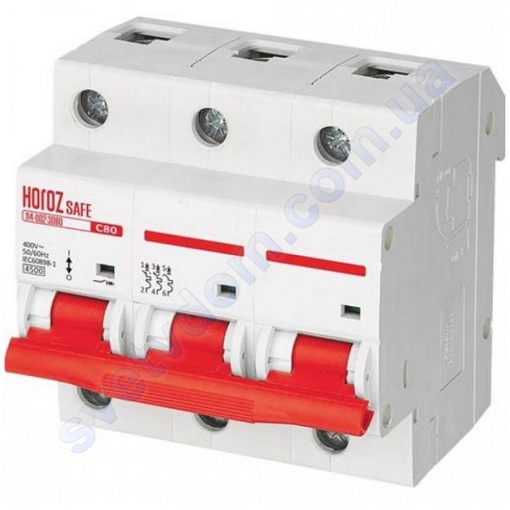 Автоматичний Вимикач Horoz Electric SAFE C80 3Р 4,5 кА 114-002-3080