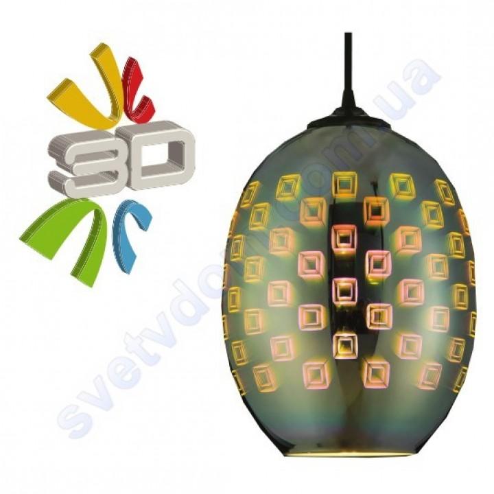 Світильник підвісний 3D ефект Horoz Electric SPECTRUM-2 скло E27 021-005-0002