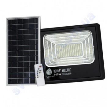 Прожектор светодиодный LED с солнечной панелью Horoz Electric TIGER-100 100W 6400K IP65  068-012-0100