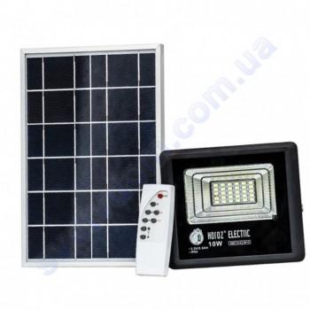Прожектор светодиодный LED с солнечной панелью Horoz Electric TIGER-10 10W 6400K IP65  068-012-0010