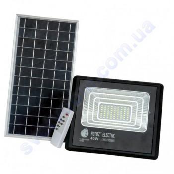 Прожектор светодиодный LED с солнечной панелью Horoz Electric TIGER-40 40W 6400K IP65  068-012-0040
