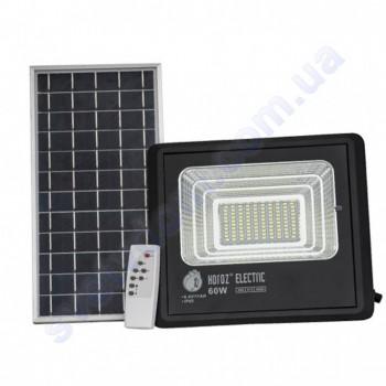 Прожектор світлодіодний LED з сонячною панеллю Horoz Electric TIGER-60 60W 6400K IP65 068-012-0060