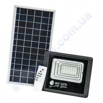 Прожектор светодиодный LED с солнечной панелью Horoz Electric TIGER-25 25W 6400K IP65  068-012-0025