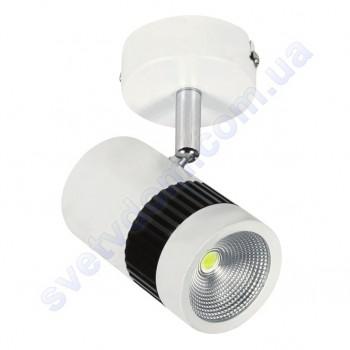 Светильник Светодиодный спот LED настенно-потолочный Horoz Electric TOKYO 4200K 8W поворотный черный-белый 017-002-0008