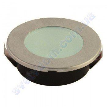 Светильник точечный светодиодный мебельный LED Horoz Electric ANGELA 2W матовый хром 016-002-0002