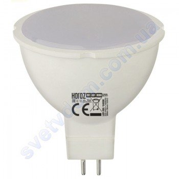 Лампа светодиодная Horoz Electric LED FONIX-6 6W (аналог 50Вт) MR16 GU5.3 001-001-0006