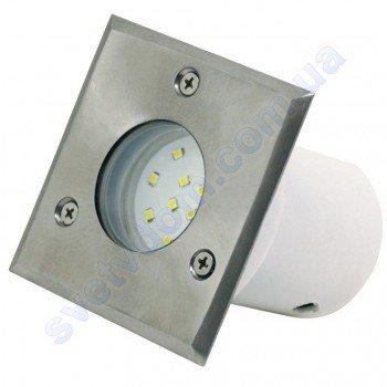 Светильник подсветка тротуарный светодиодный LED Horoz Electric INCI 1.2W мат. хром 079-004-0002