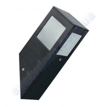 Светильник уличный садово-парковый фасадный Horoz Electric KAVAK/SQ-1 E27 IP44 алюминий+стекло 075-015-0001