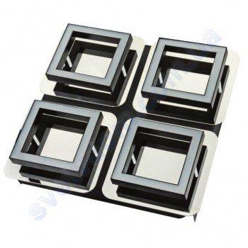 Светильник Светодиодный LED настенно-потолочный Horoz Electric LIKYA-4 4000K 4x5W хром 036-007-0004