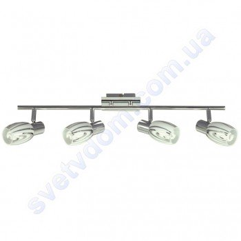 Світильник поворотний спот настінно-стельовий Horoz Electric MANAVGAT-4 E14x4 хром 035-003-0004