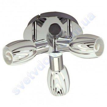 Светильник поворотный спот настенно-потолочный Horoz Electric MANAVGAT-5 E14x3 хром 035-003-0005