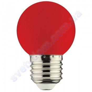 Лампа светодиодная цветная в гирлянду Horoz Electric RAINBOW 1W A45 E27 001-017-0001