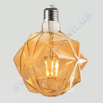 Лампа Эдисона светодиодная Horoz Electric RUSTIC CRYSTAL-6 6W (аналог 50Вт) КРИСТАЛЛ E27 FILAMENT 001-036-0006