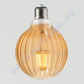 Лампа Эдисона светодиодная Horoz Electric RUSTIC MERIDIAN-6 6W (аналог 50Вт) МЕРИДИАН E27 FILAMENT 001-037-0006