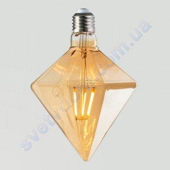 Лампа Эдисона светодиодная Horoz Electric RUSTIC PYRAMID-6 6W (аналог 50Вт) ПИРАМИДА E27 FILAMENT 001-035-0006
