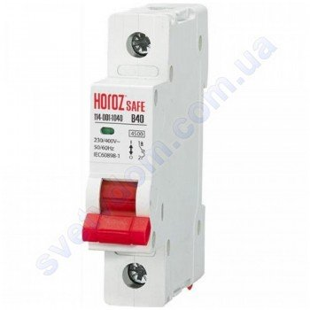 Автоматичний Вимикач Horoz Electric SAFE В40 1Р 4,5 кА 114-001-1040
