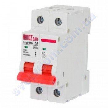 Автоматичний Вимикач Horoz Electric SAFE C6 2Р 4,5 кА 114-002-2006