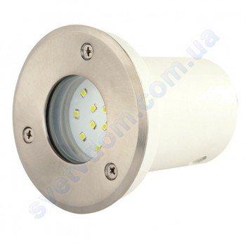 Светильник подсветка тротуарный светодиодный LED Horoz Electric SAFIR 1.2W мат. хром 079-003-0002