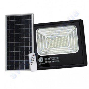 Прожектор світлодіодний LED з сонячною панеллю Horoz Electric TIGER-100 100W 6400K IP65 068-012-0100