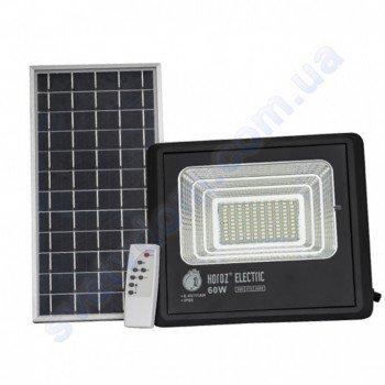 Прожектор светодиодный LED с солнечной панелью Horoz Electric TIGER-60 60W 6400K IP65  068-012-0060