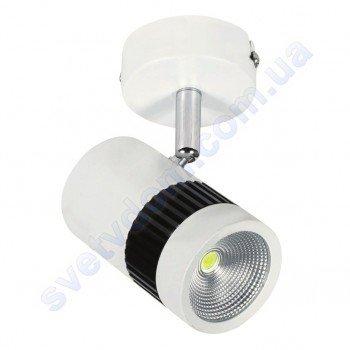 Світильник Світлодіодний спот LED настінно-стельовий Horoz Electric TOKYO 4200K 8W поворотний чорний-білий 017-002-0008