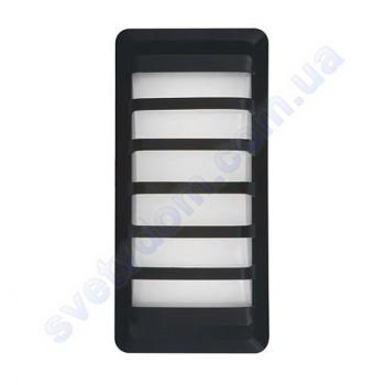 Світильник вуличний садово-парковий настінний світлодіодний LED Horoz Electric ZEYTIN чорний 12W 4200K IP65 076-032-0012