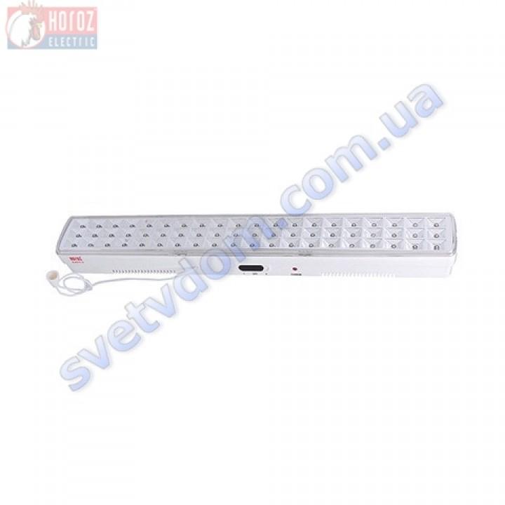 Світильник-ліхтар акумуляторний настінно-стельовий світлодіодний 60LED Horoz Electric HL312L ZICO-6 084-012-0006