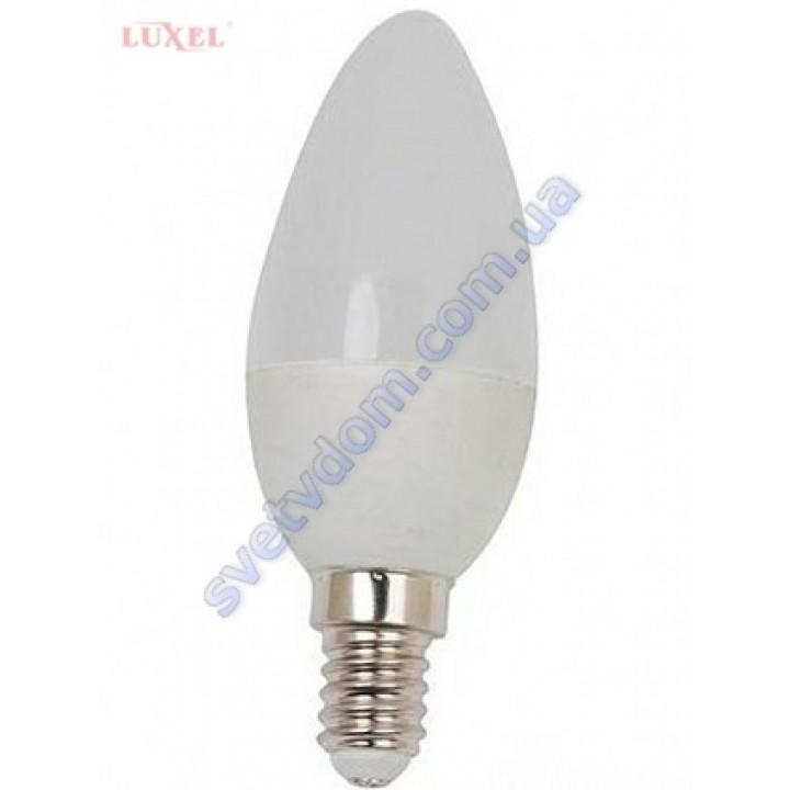 Лампа светодиодная LUXEL LED 040-N 7W (аналог 65Вт) C37 4000K E14