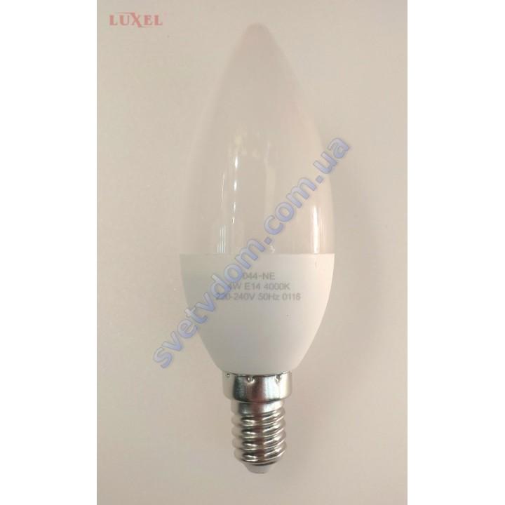Лампа светодиодная LUXEL LED 044-NE 4W (аналог 35Вт) C37 4000K E14 ECO