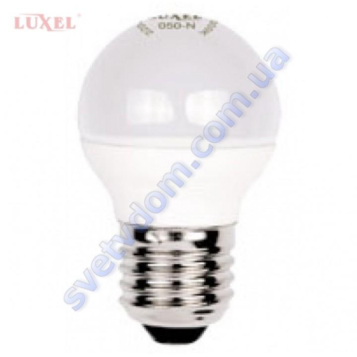 Лампа світлодіодна LUXEL LED 050-N 7W (аналог 65Вт) G45 4000K E27