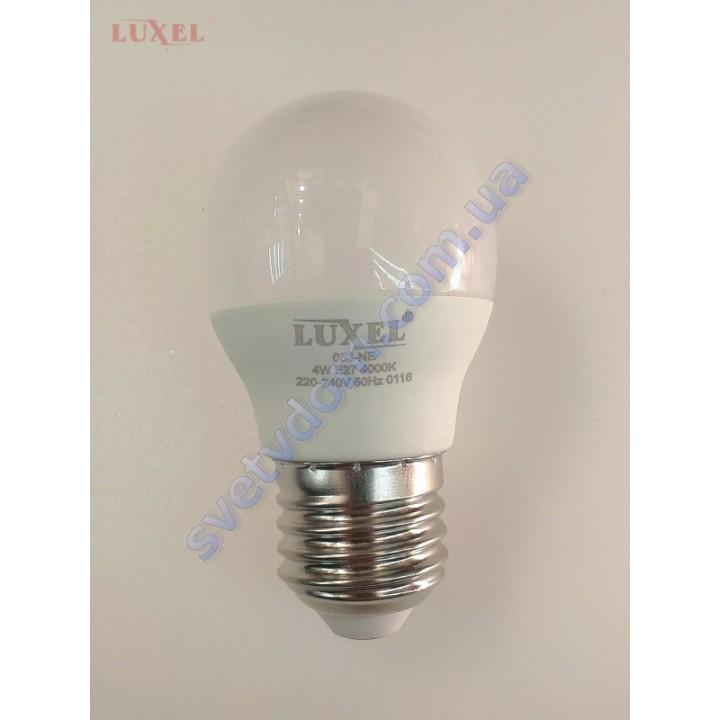 Лампа светодиодная LUXEL LED 053-NE 4W (аналог 35Вт) G45 4000K E27 ECO