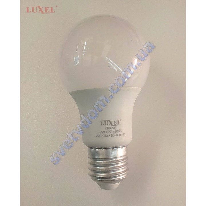 Лампа светодиодная LUXEL LED 063-NE 7W (аналог 55Вт) A60 4000K E27 ECO