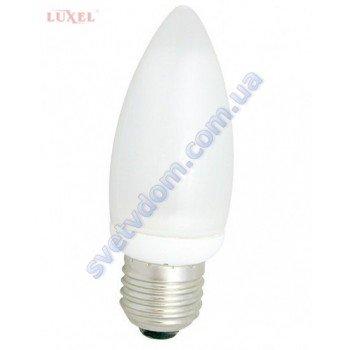 Лампа світлодіодна LUXEL LED 043-N 5W (аналог 45Вт) C37 4000K E27