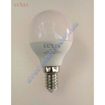 Лампа светодиодная LUXEL LED 055-NE 4W (аналог 35Вт) G45 4000K E14 ECO