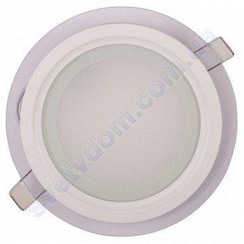 Світильник стельовий світлодіодний LED зі скляним декором Luxel DLRG-6N 6W 4000K