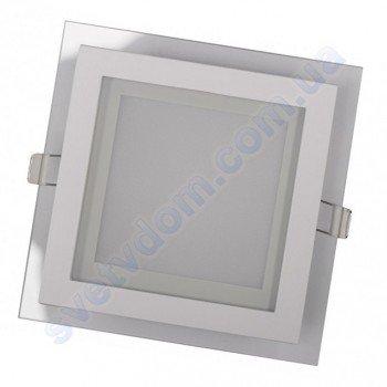 Світильник стельовий світлодіодний LED зі скляним декором Luxel DLSG-6N 6W 4000K
