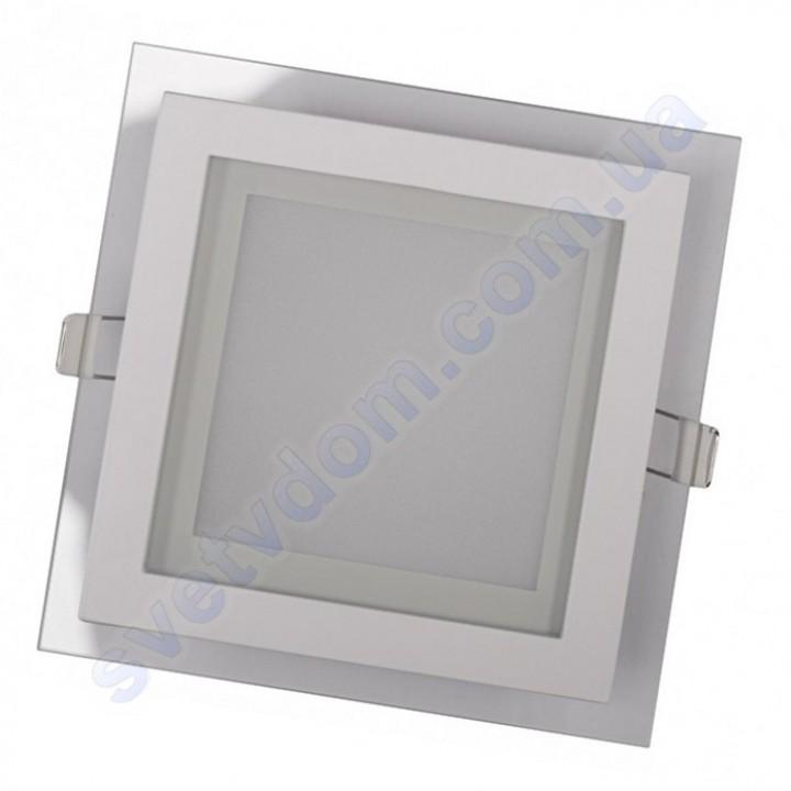 Світильник стельовий світлодіодний LED зі скляним декором Luxel DLSG-18N 18W 4000K