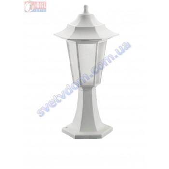 Світильник вуличний садово-парковий Horoz Electric BEGONYA-1 40W E27 max IP44 білий-чорний 400-010-116