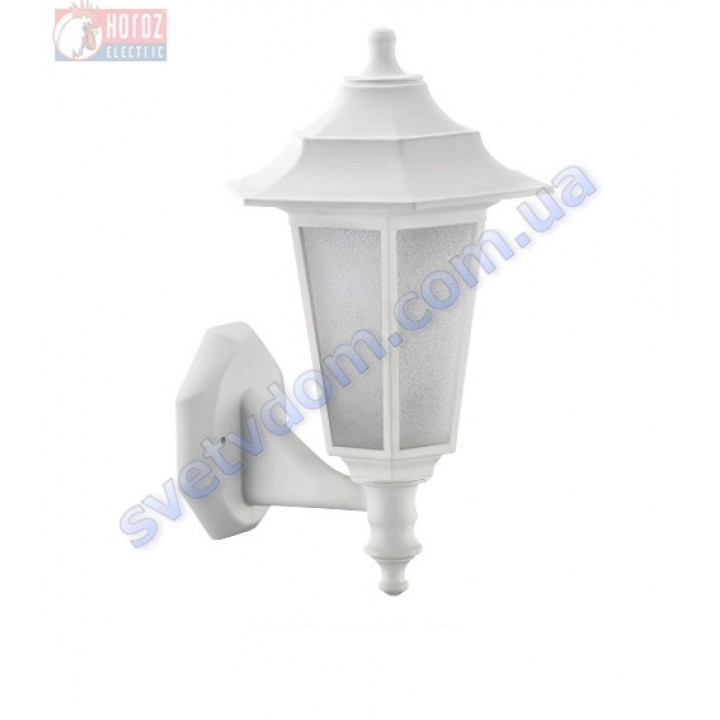 Світильник вуличний садово-парковий Horoz Electric BEGONYA-2 40W E27 max IP44 білий-чорний 400-010-117