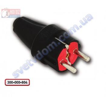 Вилка каучуковая с заземлением Horoz Electric 250V 16A