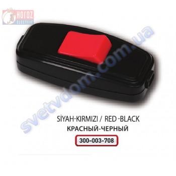Вимикач клавіша для Бра Horoz Electric Чорний з Червоним 250V 10A