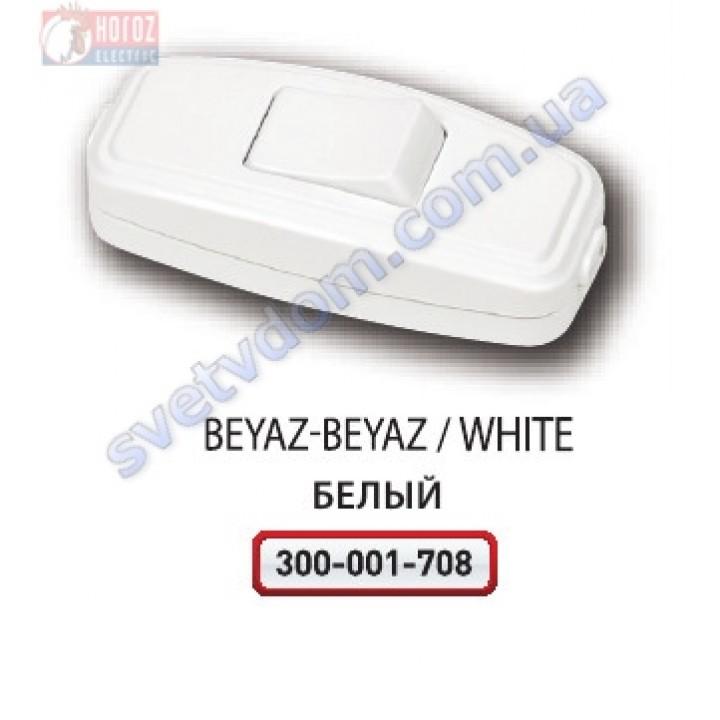 Выключатель клавиша для Бра Horoz Electric Белый 250V 10A