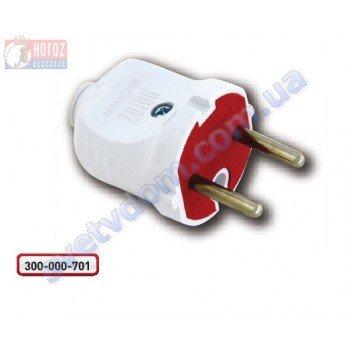 Вилка прямая без заземления Horoz Electric 250V 10A