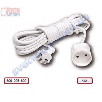 Удлинитель Horoz Electric одинарный 5 метров без заземления 250V 10A