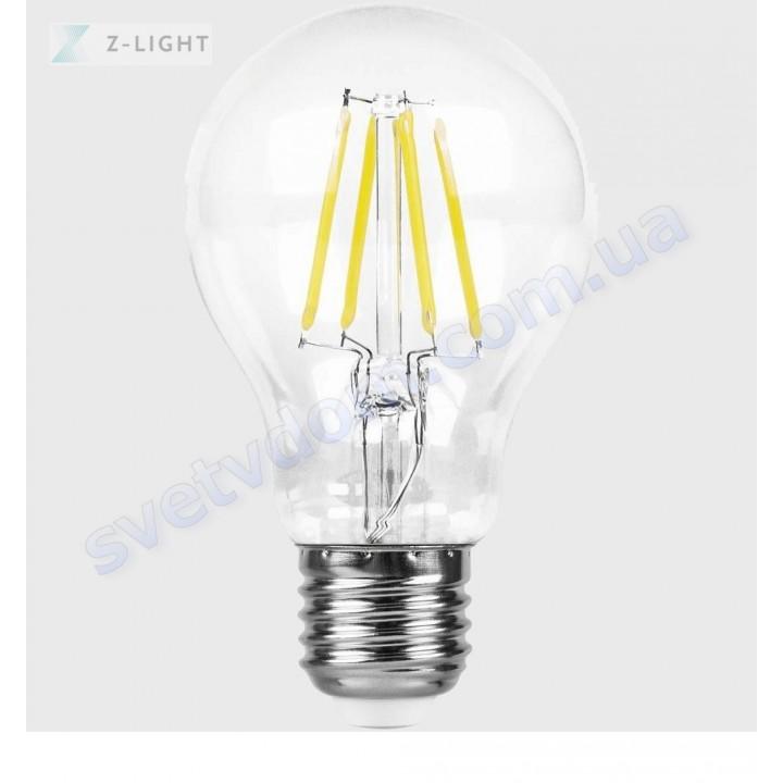 Лампа светодиодная Z-Light ZL1013-8W 8W (аналог 65Вт) A60 4000K E27 FILAMENT