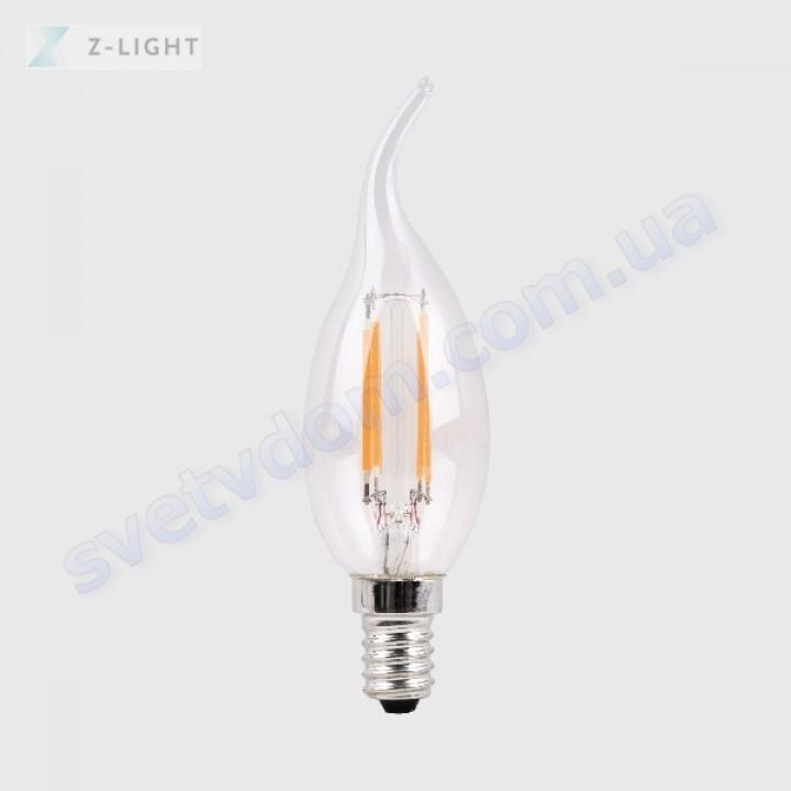 Лампа світлодіодна Z-Light ZL1014-E14 5W (аналог 40Вт) CA37 4000K E14 FILAMENT